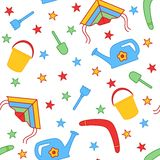 Seamless children's background. Seamless vector illustration. Cute seamless pattern Stock Images