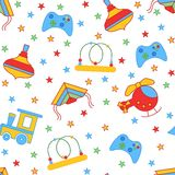 Seamless children's background. Seamless vector illustration. Cute seamless pattern Royalty Free Stock Photo