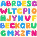 Seamless children's bright alphabet pattern. Background Royalty Free Stock Images