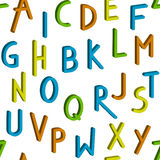 Seamless childrens bright alphabet pattern. Vector background Stock Images