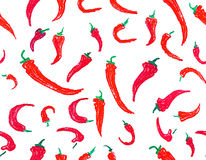 Seamless chili pepper background Royalty Free Stock Photography