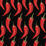 Seamless chili pepper background. Stock Images
