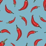 Seamless chili pepper background. Stock Photography