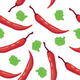 Seamless Chili Pepper wallpaper Stock Photo