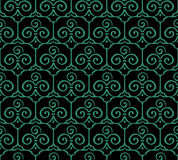 Seamless Chinese Background Trefoil Curve Spiral Cross Frame Stock Photo