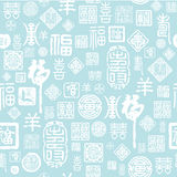 Seamless Chinese characters texture Stock Photography
