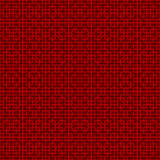 Seamless Chinese cross square line geometry window tracery pattern background. Stock Photo