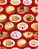 Seamless chinese food pattern. Vector drawing Royalty Free Stock Image