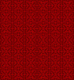 Seamless Chinese geometry square line lattice window tracery pattern background. Royalty Free Stock Images