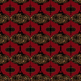 Seamless chinese lantern pattern Stock Photo