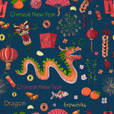 Seamless Chinese New Year pattern Royalty Free Stock Photos