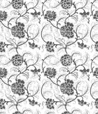 Seamless Chinese ornament with flowers royalty free illustration