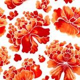 Seamless chinese pattern. Watercolor style wallpaper with floral ornament . Seamless chinese pattern. Watercolor style wallpaper with floral ornament pattern royalty free illustration