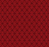 Seamless Chinese style cross geometry pattern background. Royalty Free Stock Photos