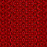 Seamless Chinese style traditional red geometry tracery pattern. Stock Image