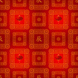 Seamless chinese traditional pattern Stock Photography