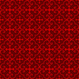 Seamless Chinese window tracery cross pattern background. Stock Photo