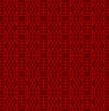 Seamless Chinese window tracery geometry square diamond pattern background. Royalty Free Stock Image