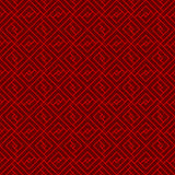 Seamless Chinese window tracery lattice geometry square pattern background. Royalty Free Stock Photo
