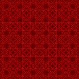 Seamless Chinese window tracery lattice geometry star cross pattern background. Royalty Free Stock Image