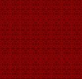 Seamless Chinese window tracery lattice polygon square geometry line pattern. Royalty Free Stock Photos