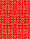 Seamless Chinese window tracery lattice spiral square geometry line pattern. Stock Photos