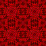 Seamless Chinese window tracery polygon flower pattern background. Royalty Free Stock Image