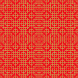 Seamless Chinese window tracery round corner square cross line pattern. Royalty Free Stock Images