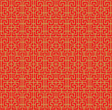 Seamless Chinese window tracery spiral square geometry line pattern. Seamless background image of vintage Chinese style window tracery spiral square geometry Royalty Free Stock Photography
