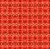 Seamless Chinese window tracery square flower geometry line pattern. Stock Photos
