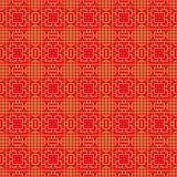 Seamless Chinese window tracery square geometry cross line pattern. Royalty Free Stock Photo