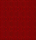 Seamless Chinese window tracery square geometry line pattern background. Royalty Free Stock Photo