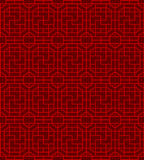 Seamless Chinese window tracery square spiral geometry pattern background. Royalty Free Stock Photos
