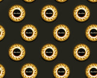 Seamless chocolate background Royalty Free Stock Images
