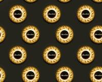 Seamless chocolate background. Seamless golden truffles chocolate background Royalty Free Stock Images