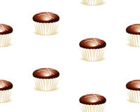 Seamless chocolate background Royalty Free Stock Image