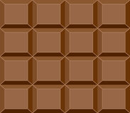 Seamless Chocolate Bar Pattern, Vector Royalty Free Stock Images
