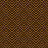 Seamless chocolate brown art deco square chevrons pattern vector Royalty Free Stock Photography