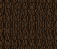 Seamless chocolate brown hexagons with stripes pattern vector. Seamless chocolate brown hexagons with stripes pattern Stock Photography