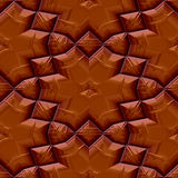 Seamless chocolate floral pattern Stock Images
