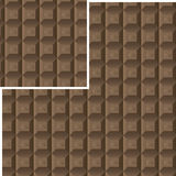 Seamless chocolate pattern. With a decor element for your use and needs Royalty Free Stock Image