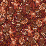 Seamless chocolate pattern Stock Image