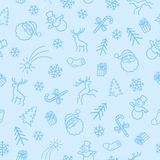 Seamless Christmas 2-color  Pattern Stock Image
