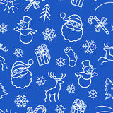 Seamless Christmas 2-color  Pattern Royalty Free Stock Image