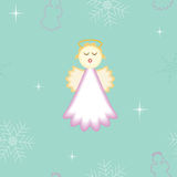 Seamless Christmas angel background Stock Images