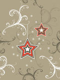 Seamless Christmas background. Seamless background with swirls and stars Royalty Free Stock Image