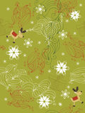 Seamless Christmas background. Seamless background with snowflakes, deers and abstract shapes Royalty Free Stock Photo