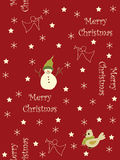 Seamless Christmas background. Seamless background with stars, angels, snowmen and birds Royalty Free Stock Photography