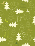 Seamless Christmas background. Seamless background with deers and trees Stock Image