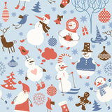 Seamless Christmas background stock illustration